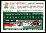 1994 Topps 1954 Archives #42  Don Mueller  Back Thumbnail