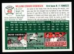 1994 Topps 1954 Archives #62  Eddie Robinson  Back Thumbnail