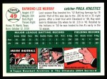 1954 Topps Archives #49  Ray Murray  Back Thumbnail