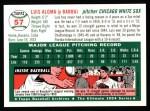 1994 Topps 1954 Archives #57  Luis Aloma  Back Thumbnail