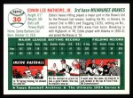 1994 Topps 1954 Archives #30  Eddie Mathews  Back Thumbnail