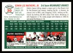 1954 Topps Archives #30  Eddie Mathews  Back Thumbnail