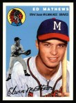 1954 Topps Archives #30  Eddie Mathews  Front Thumbnail