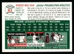 1994 Topps 1954 Archives #61  Bob Cain  Back Thumbnail