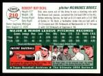 1954 Topps Archives #210  Bob Buhl  Back Thumbnail