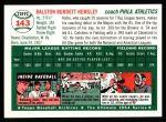 1954 Topps Archives #143  Rollie Hemsley  Back Thumbnail