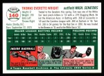 1954 Topps Archives #140  Tom Wright  Back Thumbnail