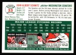 1994 Topps 1954 Archives #33  Johnny Schmitz  Back Thumbnail
