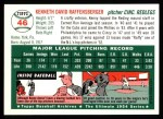 1994 Topps 1954 Archives #46  Ken Raffensberger  Back Thumbnail