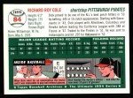 1994 Topps 1954 Archives #84  Dick Cole  Back Thumbnail