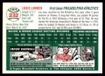 1954 Topps Archives #232  Lou Limmer  Back Thumbnail