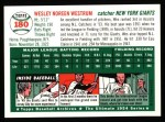 1954 Topps Archives #180  Wes Westrum  Back Thumbnail