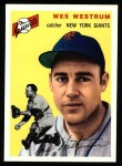 1954 Topps Archives #180  Wes Westrum  Front Thumbnail