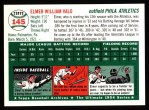 1994 Topps 1954 Archives #145  Elmer Valo  Back Thumbnail