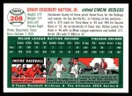 1994 Topps 1954 Archives #208  Grady Hatton  Back Thumbnail