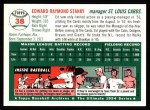 1994 Topps 1954 Archives #38  Eddie Stanky  Back Thumbnail