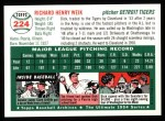 1954 Topps Archives #224  Dick Weik  Back Thumbnail