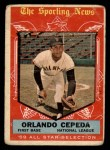 1959 Topps #553   -  Orlando Cepeda All-Star Front Thumbnail