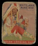 1933 Goudey Indian Gum #47  White Man Runs Him   Front Thumbnail