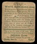 1933 Goudey Indian Gum #47  White Man Runs Him   Back Thumbnail