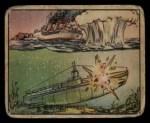 1938 Gum Inc. Horrors of War #90   Depth Bomb Sinking Pirate Submarine Front Thumbnail