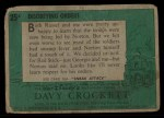 1956 Topps Davy Crockett #25 GRN  Disobeying Orders  Back Thumbnail