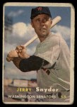 1957 Topps #22  Jerry Snyder  Front Thumbnail