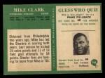 1966 Philadelphia #148  Mike Clark  Back Thumbnail