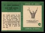 1966 Philadelphia #169   -  Bill Triplett St. Louis Cardinals Back Thumbnail