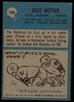1964 Philadelphia #148  Buzz Nutter  Back Thumbnail