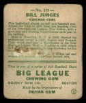 1933 Goudey #225  Billy Jurges  Back Thumbnail