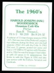 1978 TCMA The 60's #123  Hal Woodeschick  Back Thumbnail