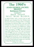 1978 TCMA The 60's #33  Jackie Brandt  Back Thumbnail
