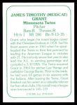 1978 TCMA The 60's #200  Mudcat Grant  Back Thumbnail