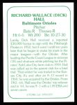 1978 TCMA The 60's #170 B Dick Hall  Back Thumbnail