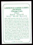 1978 TCMA The 60's #286  Larry Jackson  Back Thumbnail