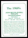 1978 TCMA The 60's #192  Bubba Phillips  Back Thumbnail