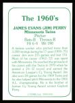 1978 TCMA The 60's #105  Jim Perry  Back Thumbnail
