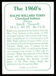 1978 TCMA The 60's #168  Ralph Terry  Back Thumbnail