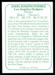 1978 TCMA The 60's #156  Johnny Podres  Back Thumbnail