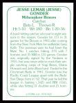 1978 TCMA The 60's #122  Jesse Gonder  Back Thumbnail