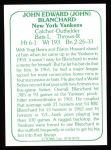 1978 TCMA The 60's #78  John Blanchard  Back Thumbnail