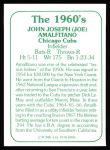 1978 TCMA The 60's #96  Joe Amalfitano  Back Thumbnail