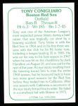 1978 TCMA The 60's #206  Tony Conigliaro  Back Thumbnail