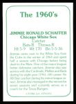 1978 TCMA The 60's #152  Jim Schaffer  Back Thumbnail
