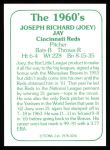 1978 TCMA The 60's #216  Joey Jay  Back Thumbnail
