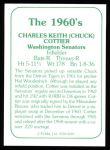 1978 TCMA The 60's #189  Chuck Cottier  Back Thumbnail