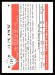 1979 TCMA The 50's #212  Al Pilarcik  Back Thumbnail