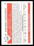 1979 TCMA The 50's #225  Foster Castleman  Back Thumbnail