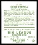 1933 Goudey Reprint #148  Eddie Farrell  Back Thumbnail